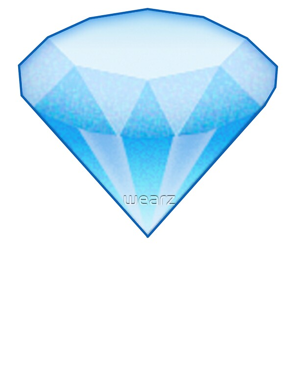 Quot Diamond Emoji Large Quot Stickers By Wearz Redbubble