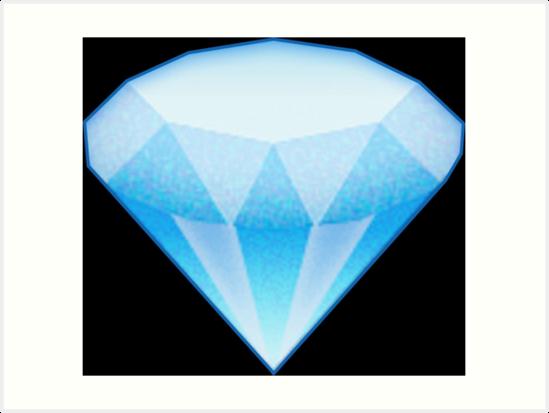 u0026quot;Diamond Emoji (Large)u0026quot; Art Prints by wearz : Redbubble