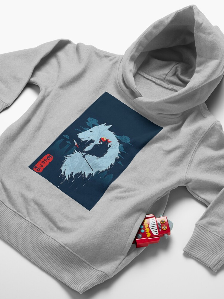 Alternate view of Princess Mononoke Art Toddler Pullover Hoodie