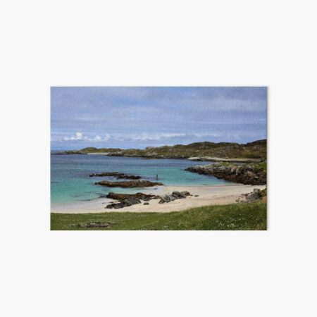 Scottish Island Beaches & Caribbean Blue Waters  Art Board Print