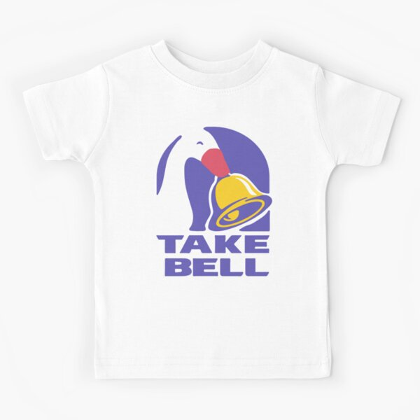 Goose TAKE BELL Taco Bell Untitled Goose Game Meme Illustration Kids T-Shirt
