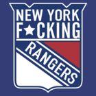New York F*cking Rangers Logo T-Shirt by mxrider225