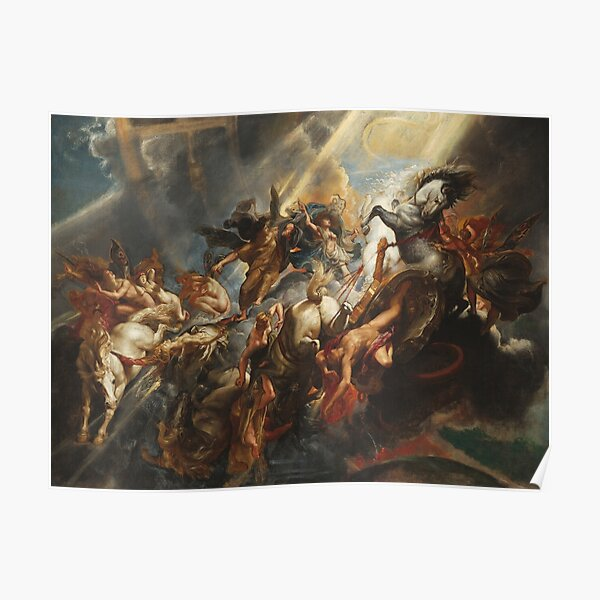 Peter Paul Rubens The Fall of Phaeton Zeus Greek mythylogy Famous Painting HD High Quality Poster