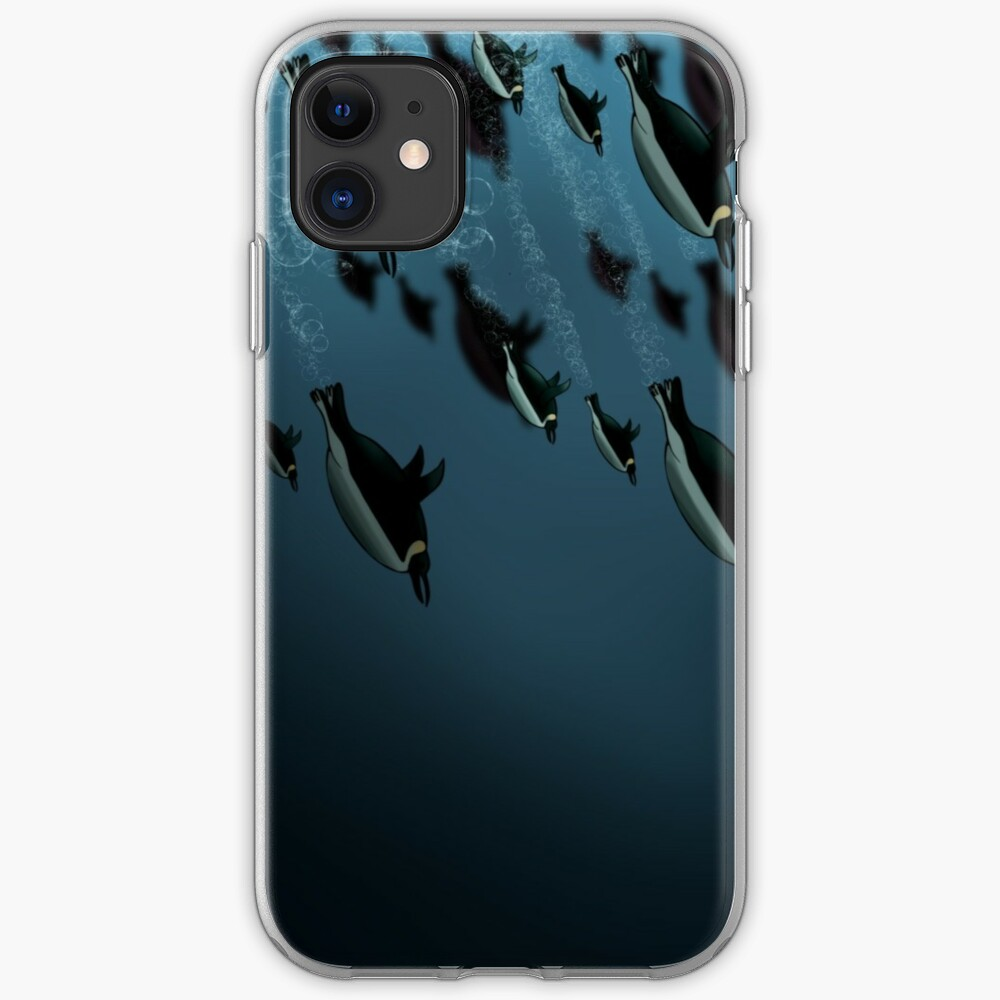 penguins under water iPhone Case & Cover