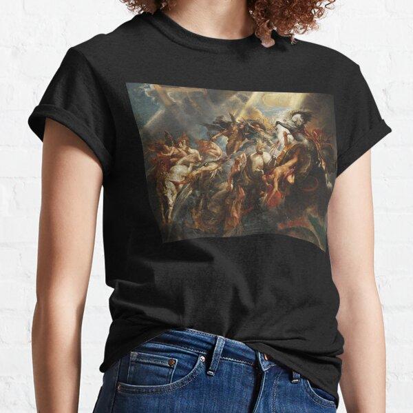 Peter Paul Rubens The Fall of Phaeton Zeus Greek mythylogy Famous Painting HD High Quality Classic T-Shirt