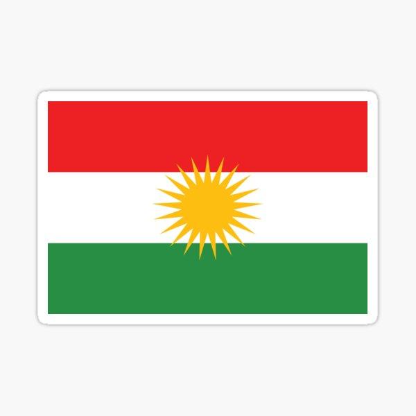 Kurdistan Flagge Sticker