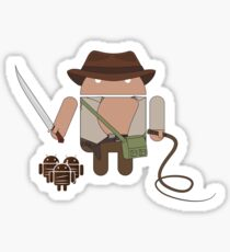 Indiana Jones and the Temple of Droid (No Text) Sticker