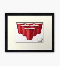 Beer Pong Framed Print