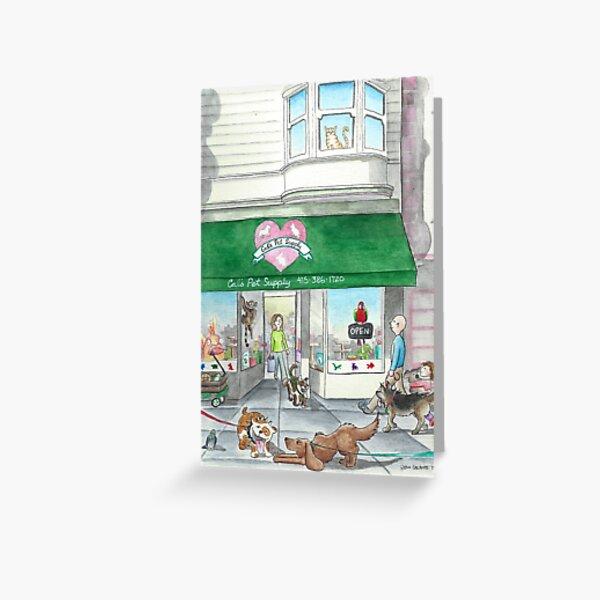 Cal's Pet Supply  Greeting Card
