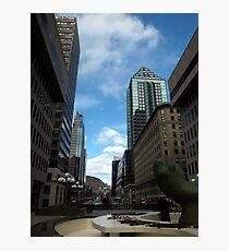 Montreal towards Mount Royal Photographic Print