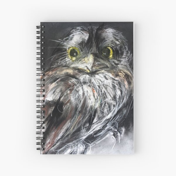 Tawny Frogmouth (Not an Owl!) Spiral Notebook