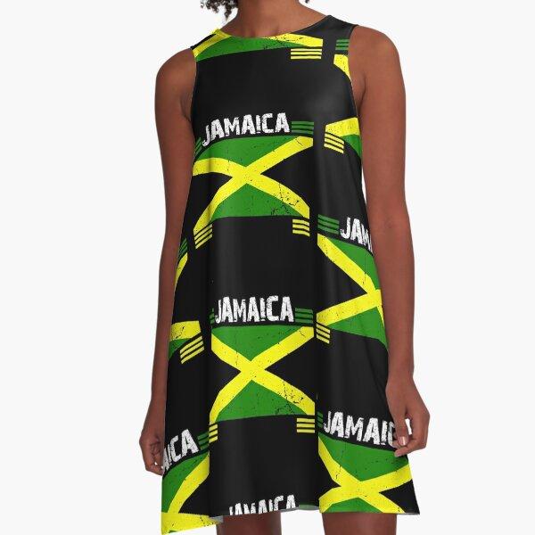 JAMAICA ENSIGN,JAMAIKA FLAG, REGGAE, RASTA, COLORS A-Line Dress