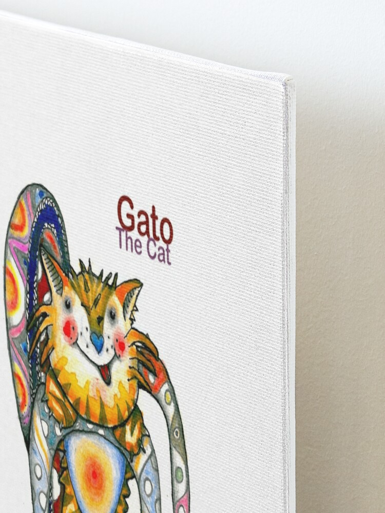 Alternate view of Gato The Cat Mounted Print