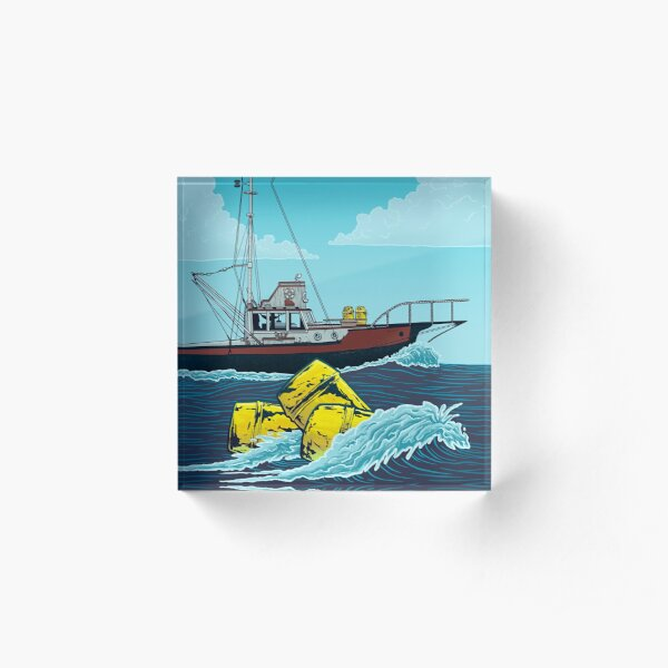 Jaws: The Orca Illustration Acrylic Block