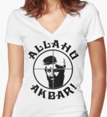 Osama bin Shot! Women's Fitted V-Neck T-Shirt