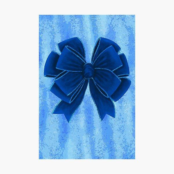 Lazo de terciopelo azul oscuro Lámina fotográfica