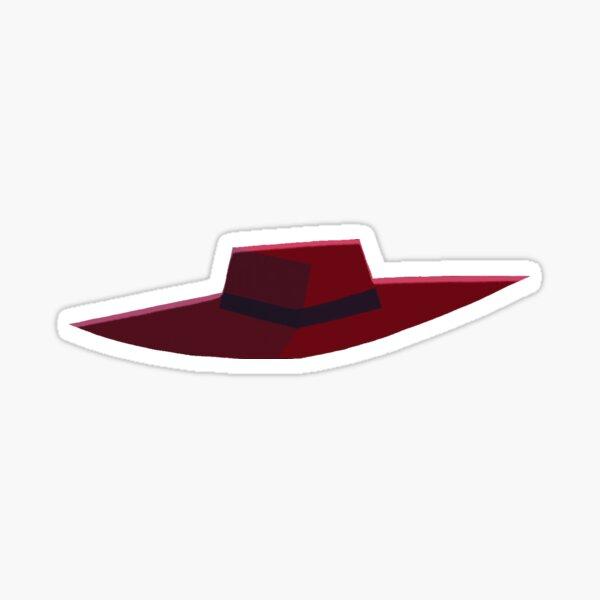 Carmen Sandiego Hat Sticker