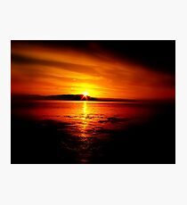 Sunset Waterscape Photographic Print