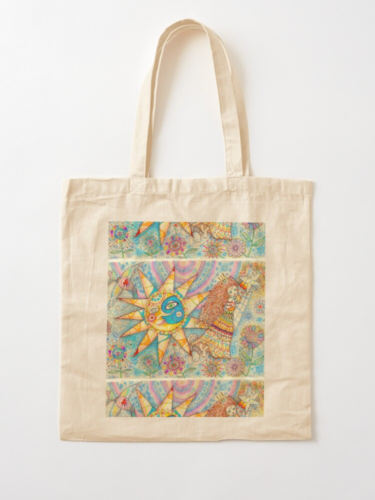 Alternate view of The Lady, The Sun and The Shooting Star Tote Bag