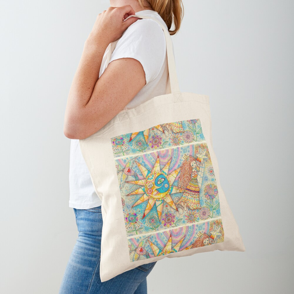 The Lady, The Sun and The Shooting Star Tote Bag