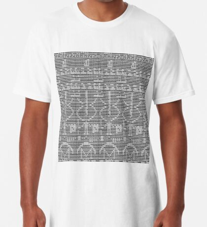 The Arecibo Message 0001 Long T-Shirt