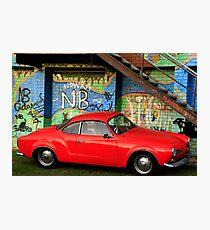 Red Karmann Ghia Photographic Print