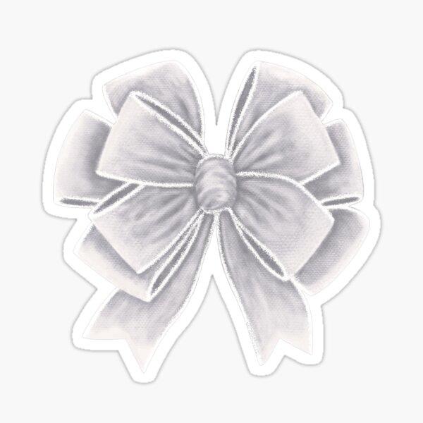 Lazo de terciopelo blanco Pegatina