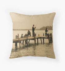 A Spot Of Fishing Throw Pillow