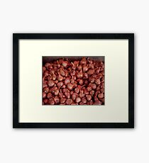 Shallots, Ferry Building Farmers Market,  Framed Print