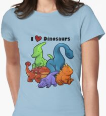 I <3 Dinosaurs Womens Fitted T-Shirt