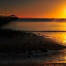 Shorncliffe Jetty at sunrise. Brisbane, Queensland, Australia. by Ralph de Zilva