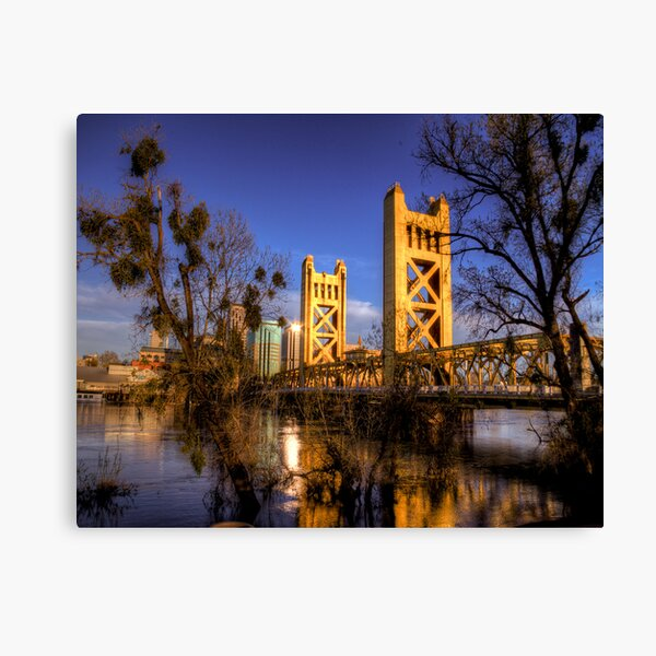 Tower Bridge, Sacramento, CA Canvas Print