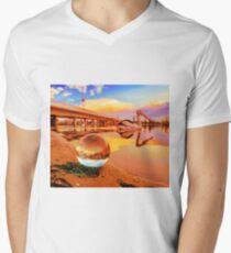 Lensball with Pelican V-Neck T-Shirt