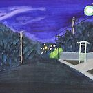 Sloan Ave Sunset by Joan Wild