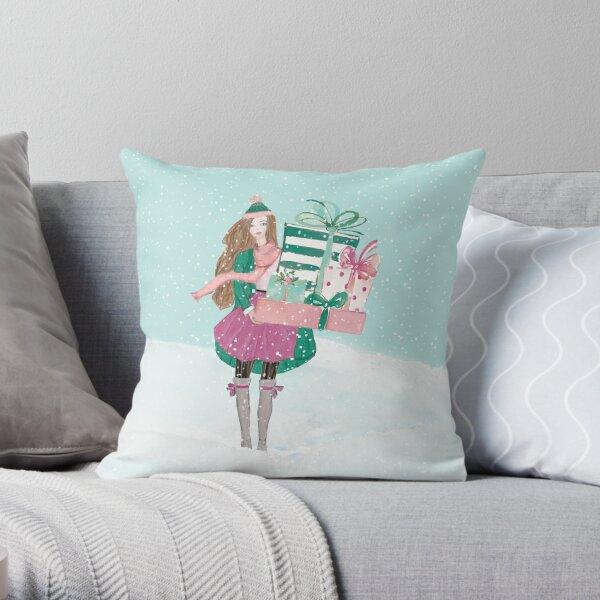 Christmas Fashionista Throw Pillow
