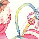 """backpack scary, illustration of the story """"backpack""""  by vimasi"""