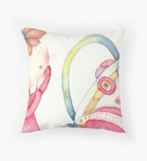 """backpack scary, illustration of the story """"backpack""""  Throw Pillow"""