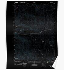 USGS Topo Map Oregon Virtue Flat 20110831 TM Inverted Poster