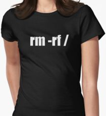 rm -rf /  Women's Fitted T-Shirt