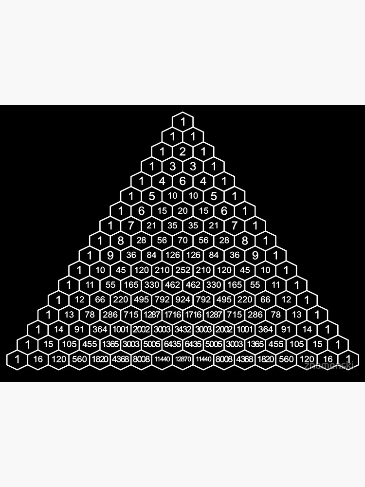 In mathematics, Pascal's triangle is a triangular array of the binomial coefficients by znamenski