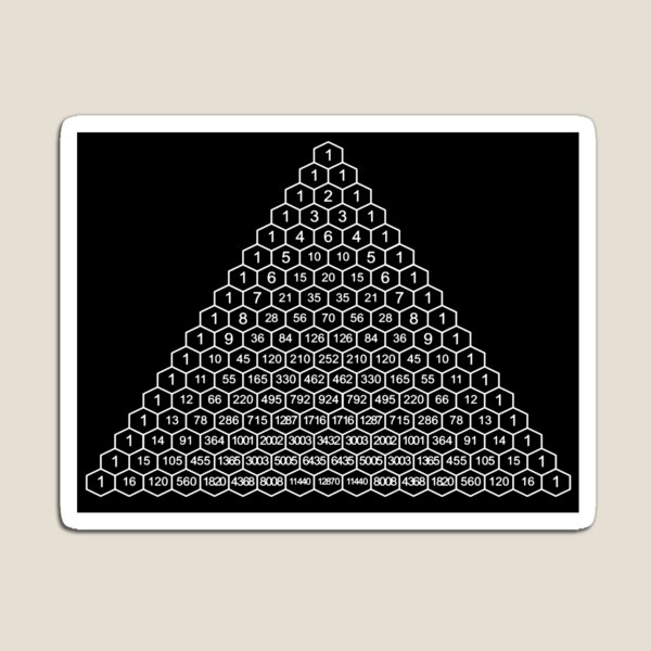 In mathematics, Pascal's triangle is a triangular array of the binomial coefficients Magnet