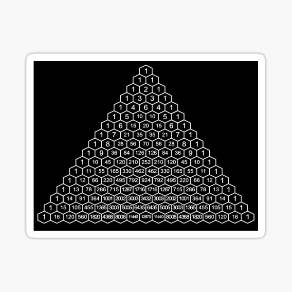 In mathematics, Pascal's triangle is a triangular array of the binomial coefficients Sticker