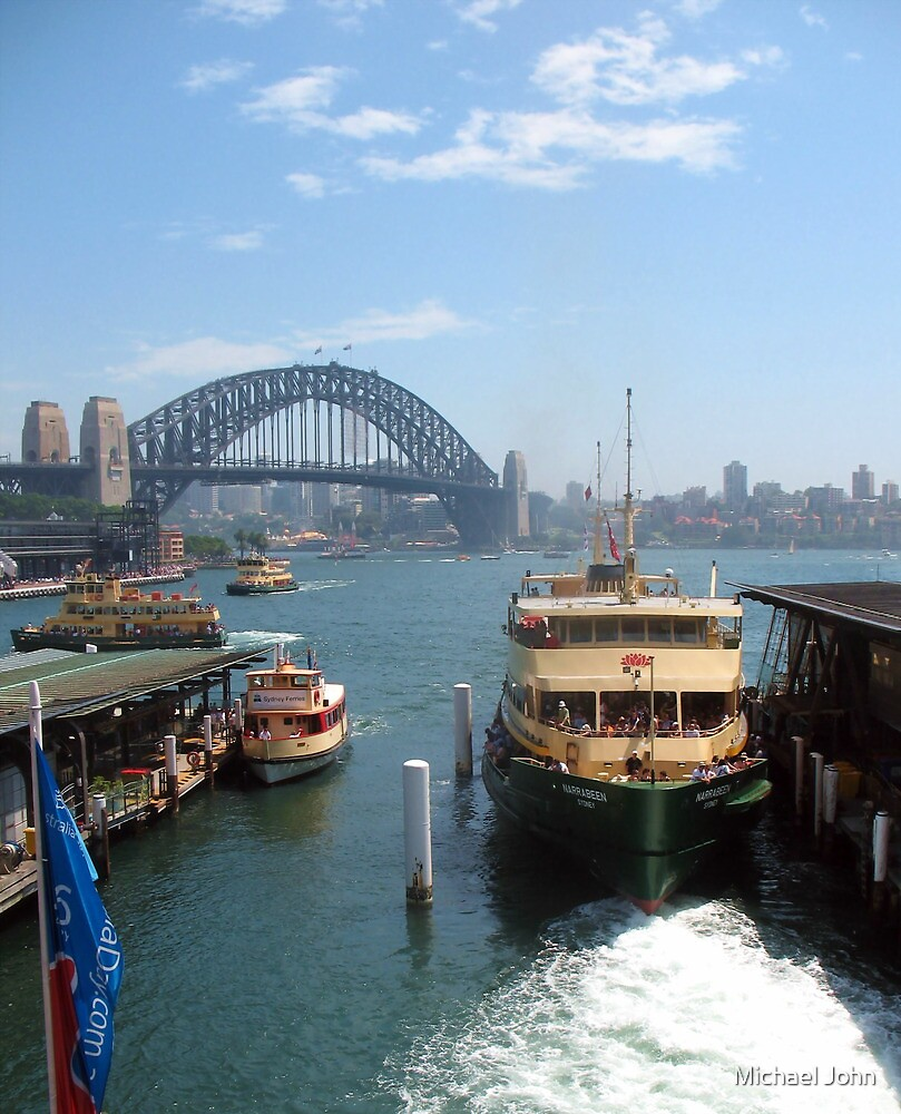 Ferry on Sydney Harbour by Michael John
