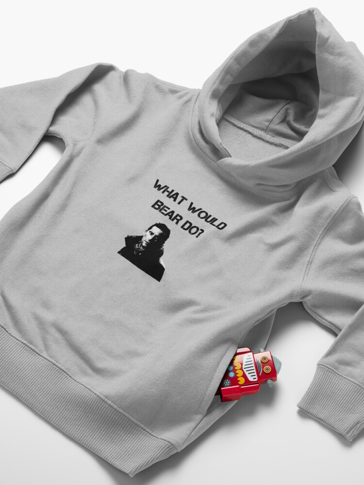 Alternate view of What would Bear do? Toddler Pullover Hoodie
