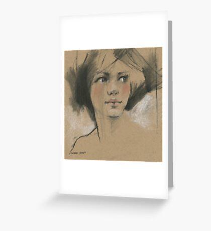 in sketch book Greeting Card