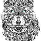 Very Intricate Wolf Illustration by artonwear