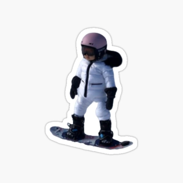 stormi snowboarding Sticker