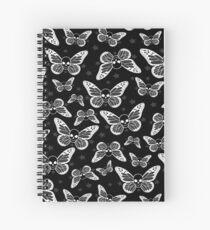 Dark Butterflies Spiral Notebook