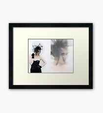 Black Rabbit Fashion Framed Print