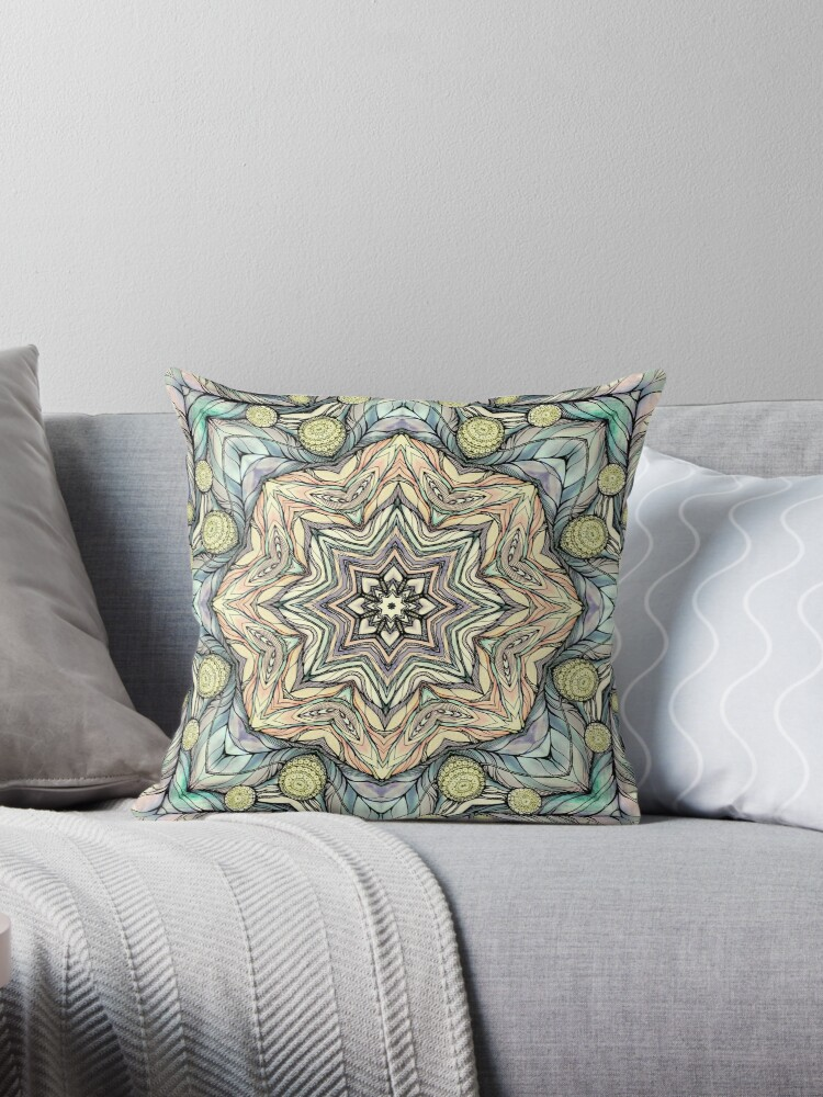 Light green flowers mandala by kanvisstyle